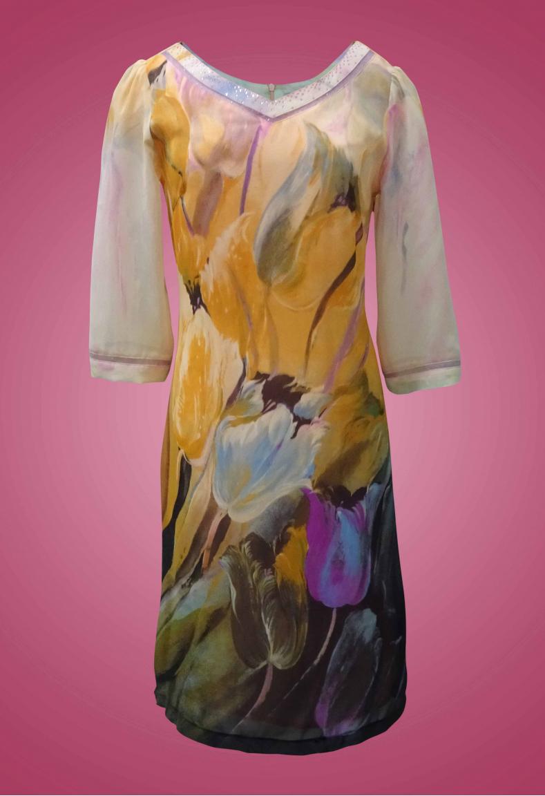 Đầm Chiffon bông