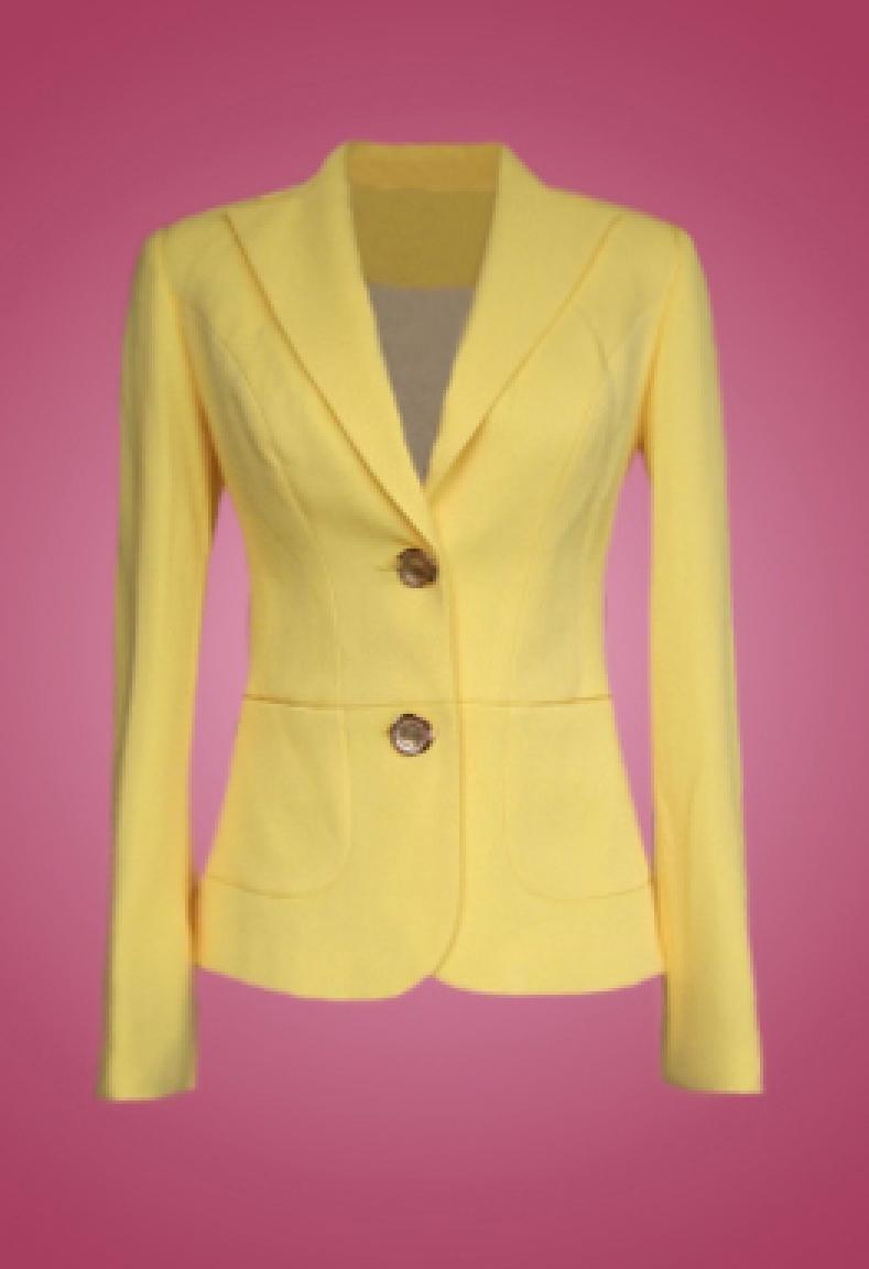 Áo Vest màu vàng