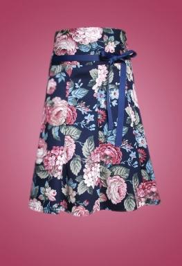Váy kaki bông lưng cao