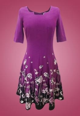 Đầm thun cotton cổ vuông