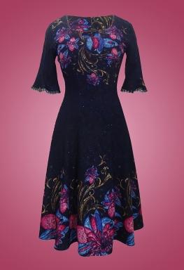 Đầm thun bông cổ vuông