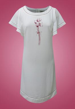 Đầm voan cổ tròn