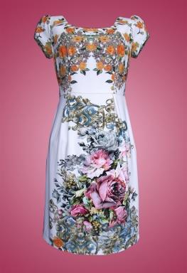 Đầm thun bông cổ tròn tay con thời trang Sifa