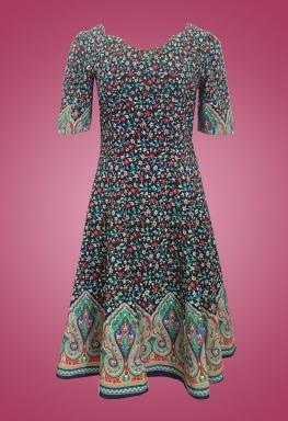 Đầm cotton bông cổ tim