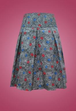 Váy kaki lưng cao